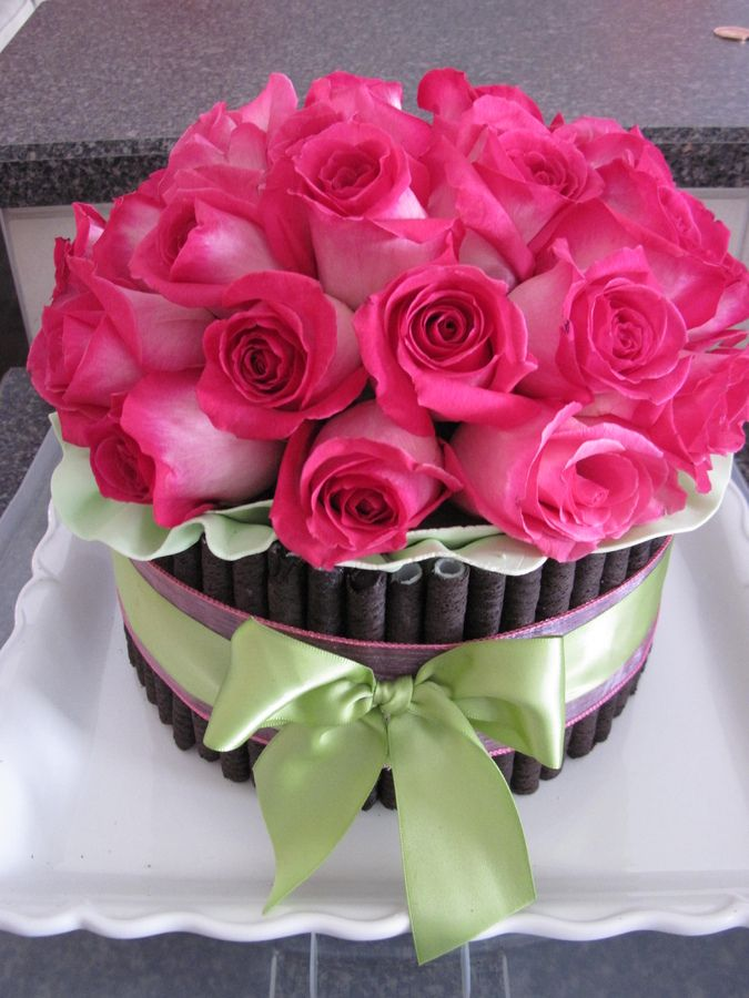 Fresh Flower cake Birthday Cakes Be My Valentine Pinterest