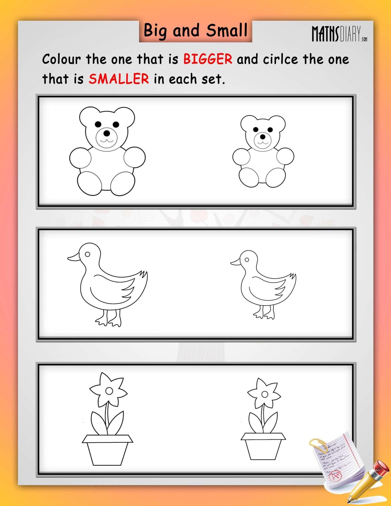 11 Big Medium Small Worksheet For Preschool Math Worksheet Alphabet Worksheets Kindergarten Worksheets