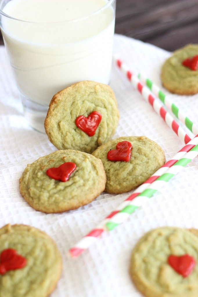 Grinch Cookies + Pistachio Pudding Cookies