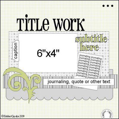 single page 1 photo scrapbook sketch / layout