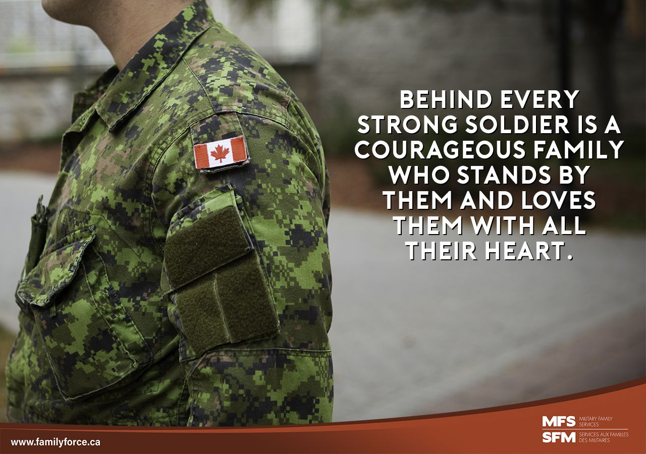 Military families standing strong behind the uniform.