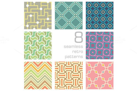 Check out seamless retro collection by Watchada's factory on Creative Market