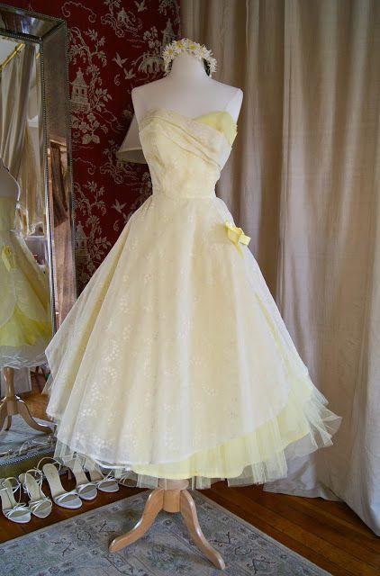 1950\'s Lemon tulle prom/wedding dress. | Historical Costume-Women ...