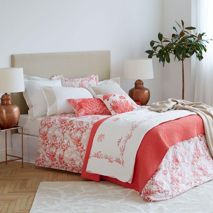 sábanas y fundas estampado corales - sábanas y fundas - cama   zara