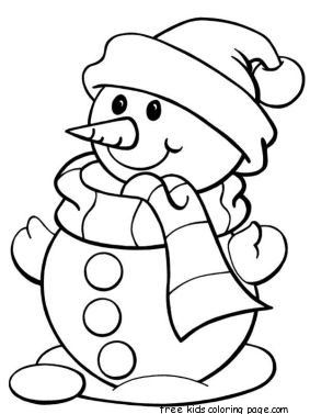 Cute Snowman Snowman Coloring Pages Christmas Coloring Sheets