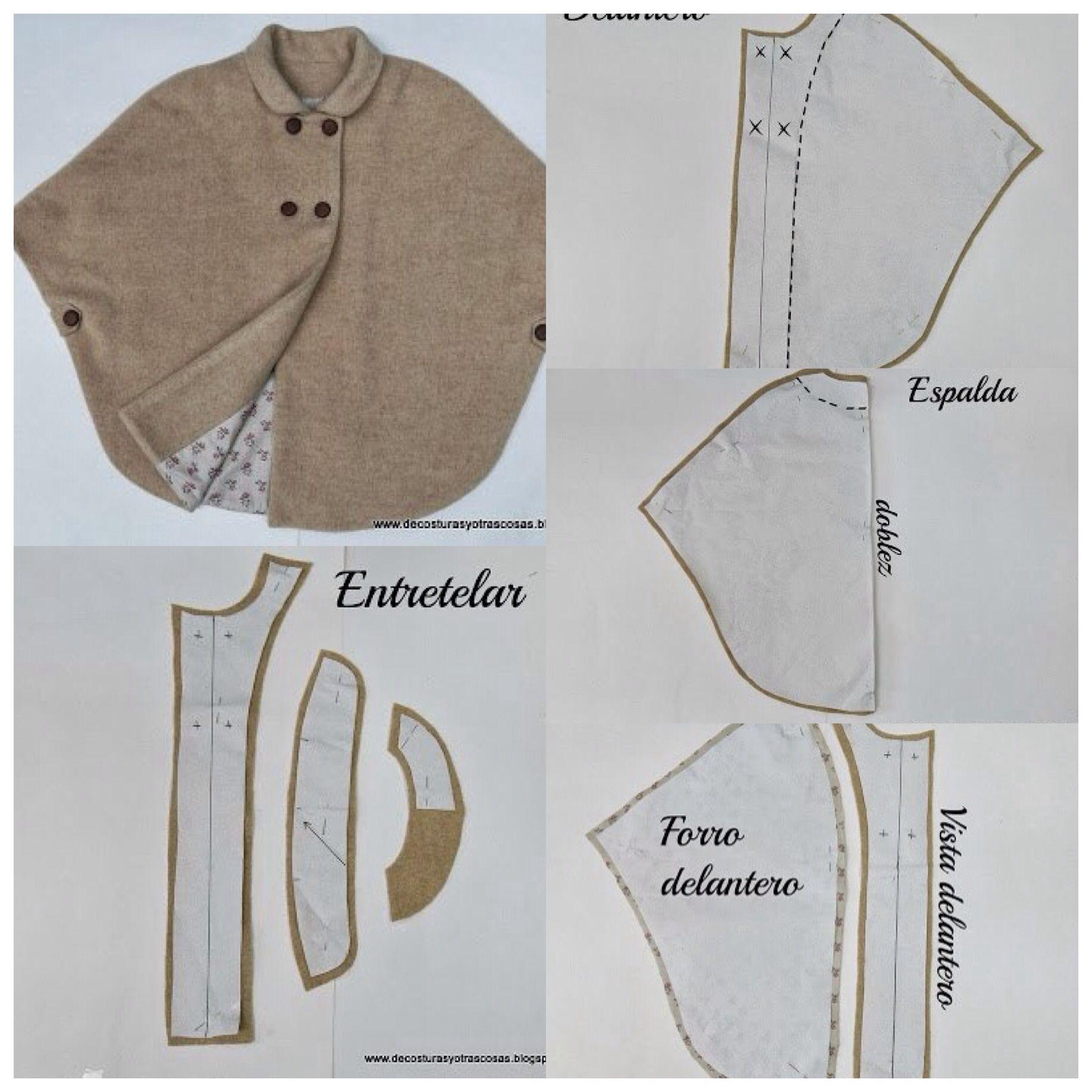 Moldes capa | Patrones | Pinterest | Costura, Patrones y Moldes