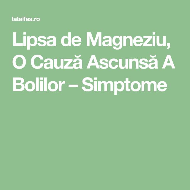 �F���_LipsadeMagneziu,OCauzトAscunsトABolilor窶Simptome