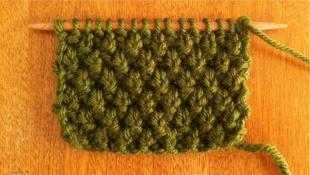 Knitting Increases At End Of Row : Double moss stitch knitting new a