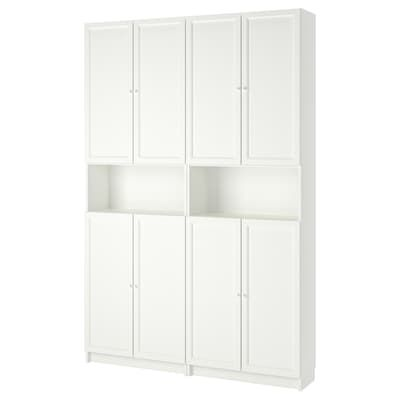 Ante Per Libreria Billy.Billy Oxberg Bookcase With Glass Door White Glass 15 3 4x11 3 4x93 1 4 Ikea Ikea Ikea Billy Shelves