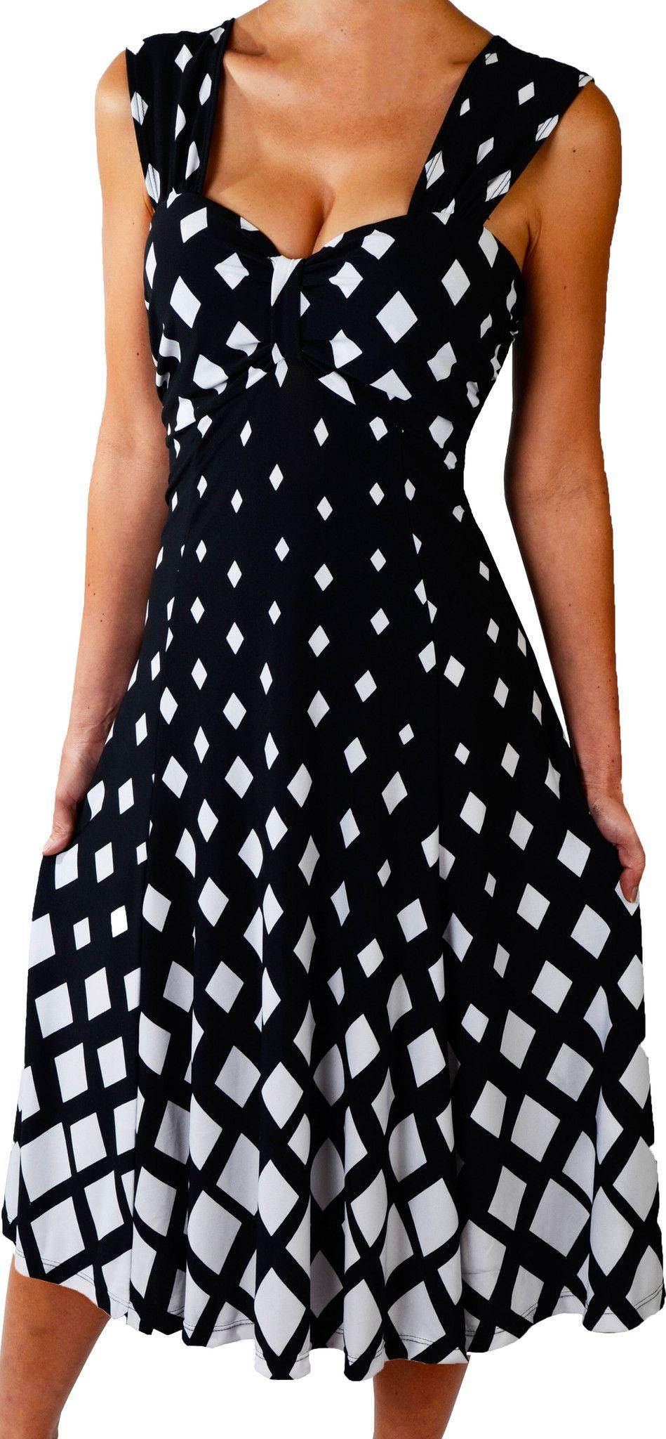 Plus size women diamond white black slimming cocktail dress made in