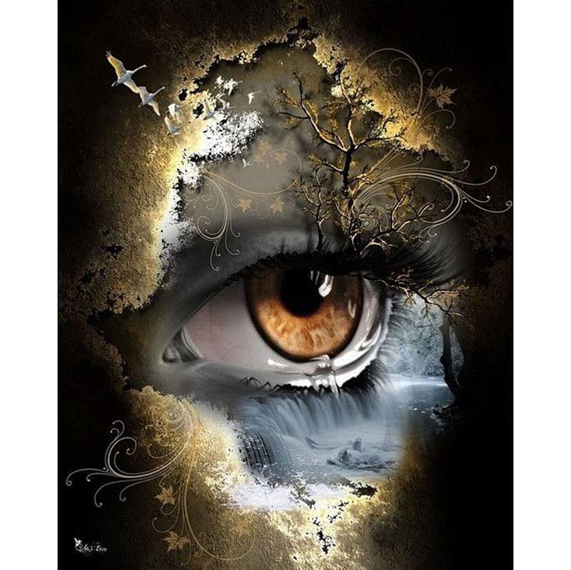 5D / 3D Diamants peinture Carré / Rond Complet Oeil Mystérieux Diamants  mosaïque,Artisanat, Bricolage. - Livraison … | Peinture yeux, Art de l'oeil,  Yeux dessin