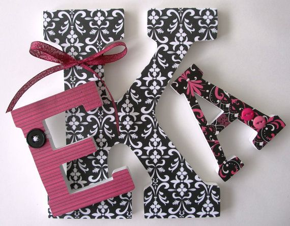 Custom Decorated Wooden Letters Monogram Wedding Christmas Nursery