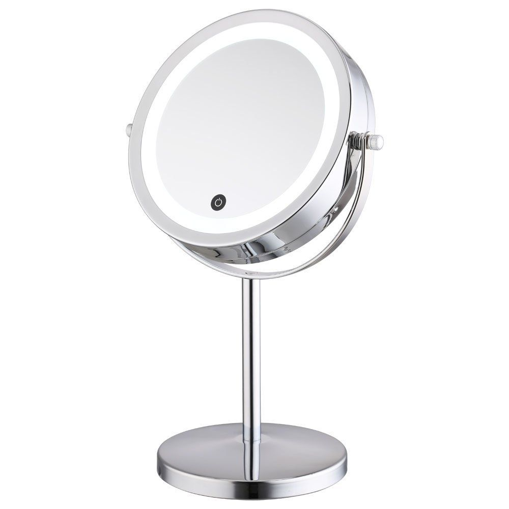 Alhakin 7 Inch 5x Magnification Touchscreen Dimmable Led Lighted Makeup Mirror Led Makeup Mirror Makeup Mirror With Lights Mirror