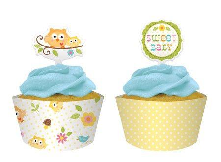 Happi Tree Cupcake Wraps & Toppers | 12ct