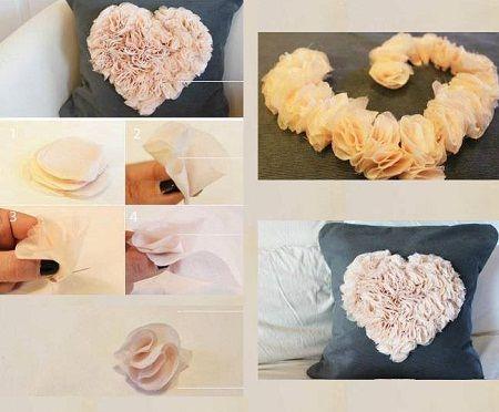 Ideas para decorar cojines paso a paso - Cojines hechos a mano ...
