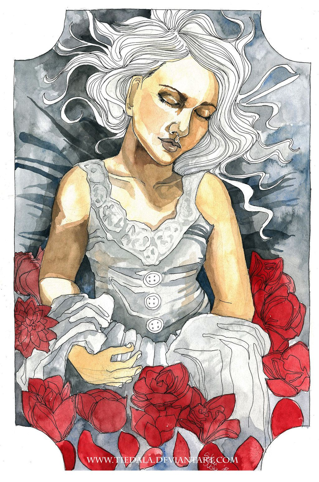 Sleeping beauty by Tiedala.deviantart.com on @deviantART