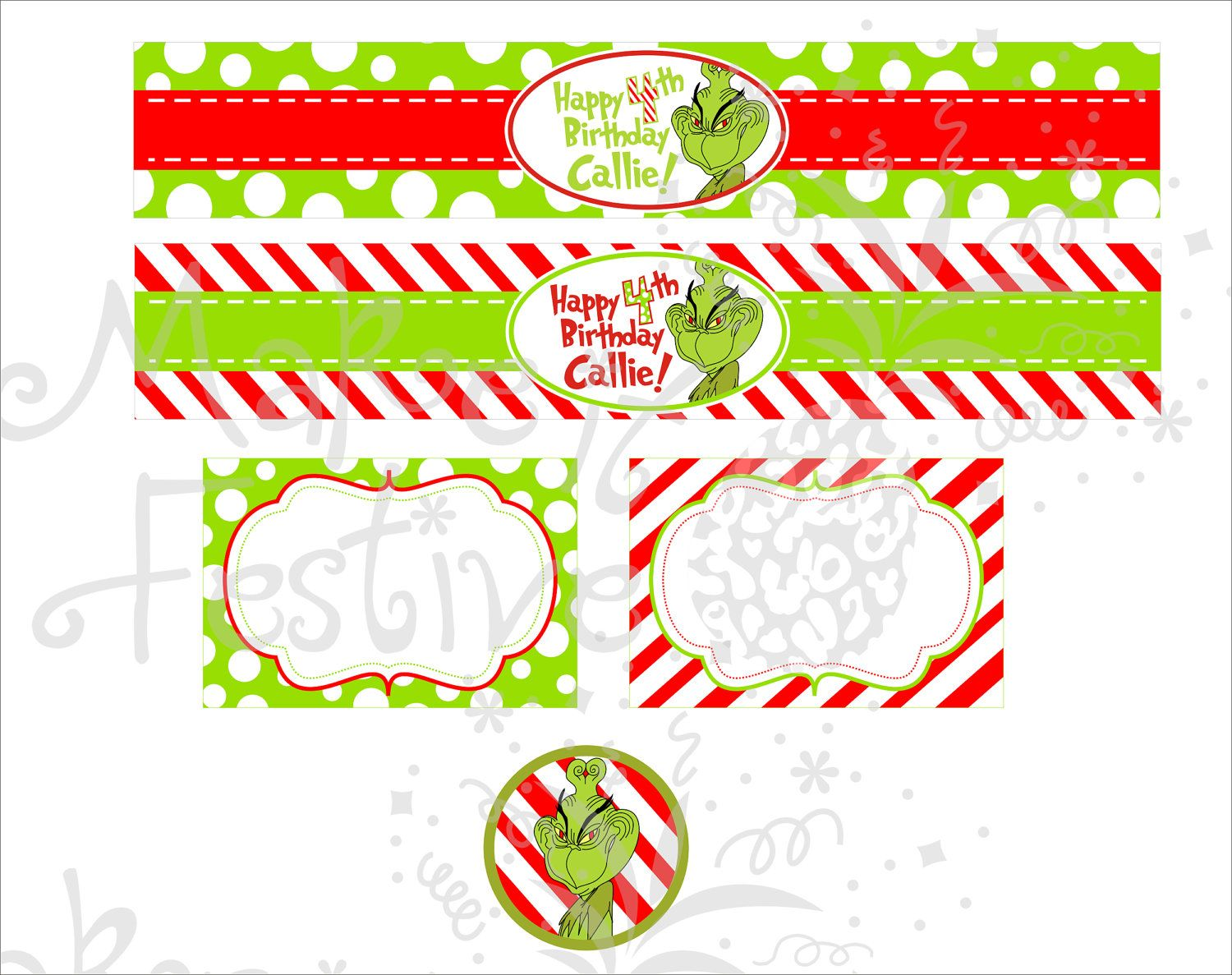Image Result For Free How The Grinch Stole Christmas Water Bottle