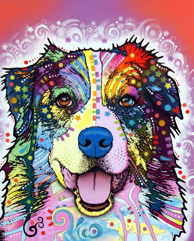 Australian Shepherd dog art zentangle colorful | zentangle colorful ...