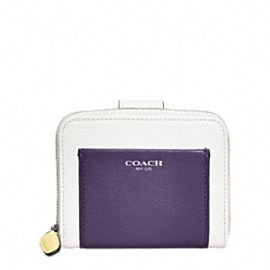 Coach Wallet - LEGACY COLORBLOCK LEATHER MEDIUM ZIP AROUND