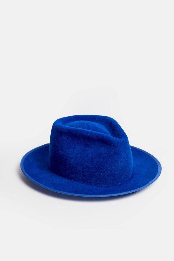Royal blue fedora hat 0f5bb0c806e
