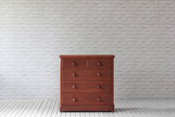 A Victorian mahogany chest of drawers.   Sanded to original wood and polished