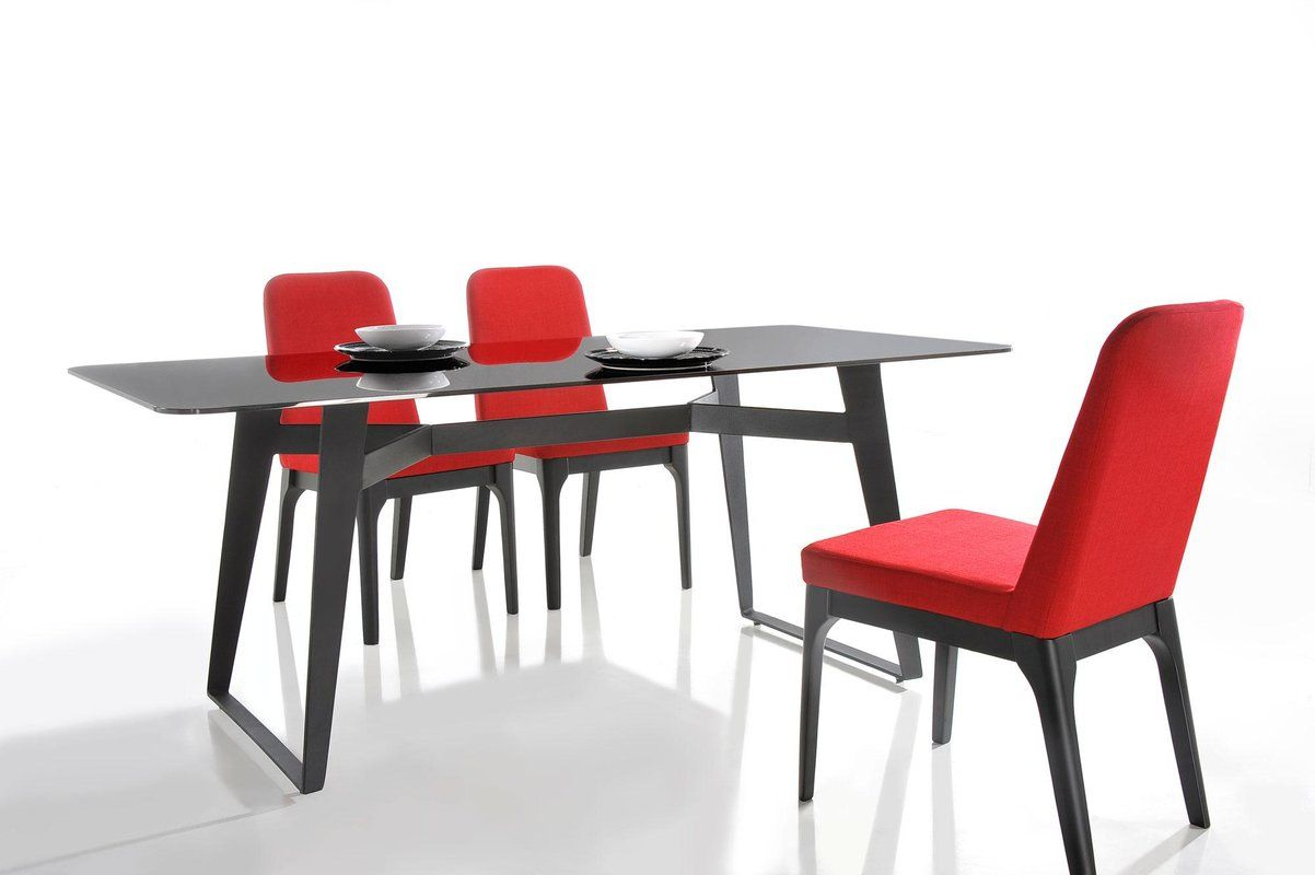 Camron Glass Top Dining Table Black Glass Dining Table Dining Table In Kitchen Dining Table