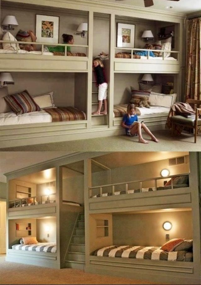 Built In Bunk Beds Crafty Mimies Cool Girl Bedrooms