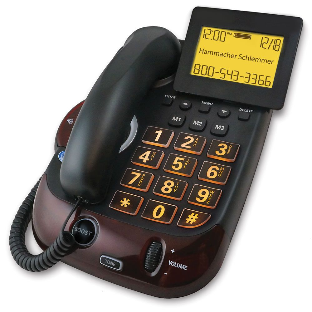 The Caller Announcing Large View Telephone Hammacher