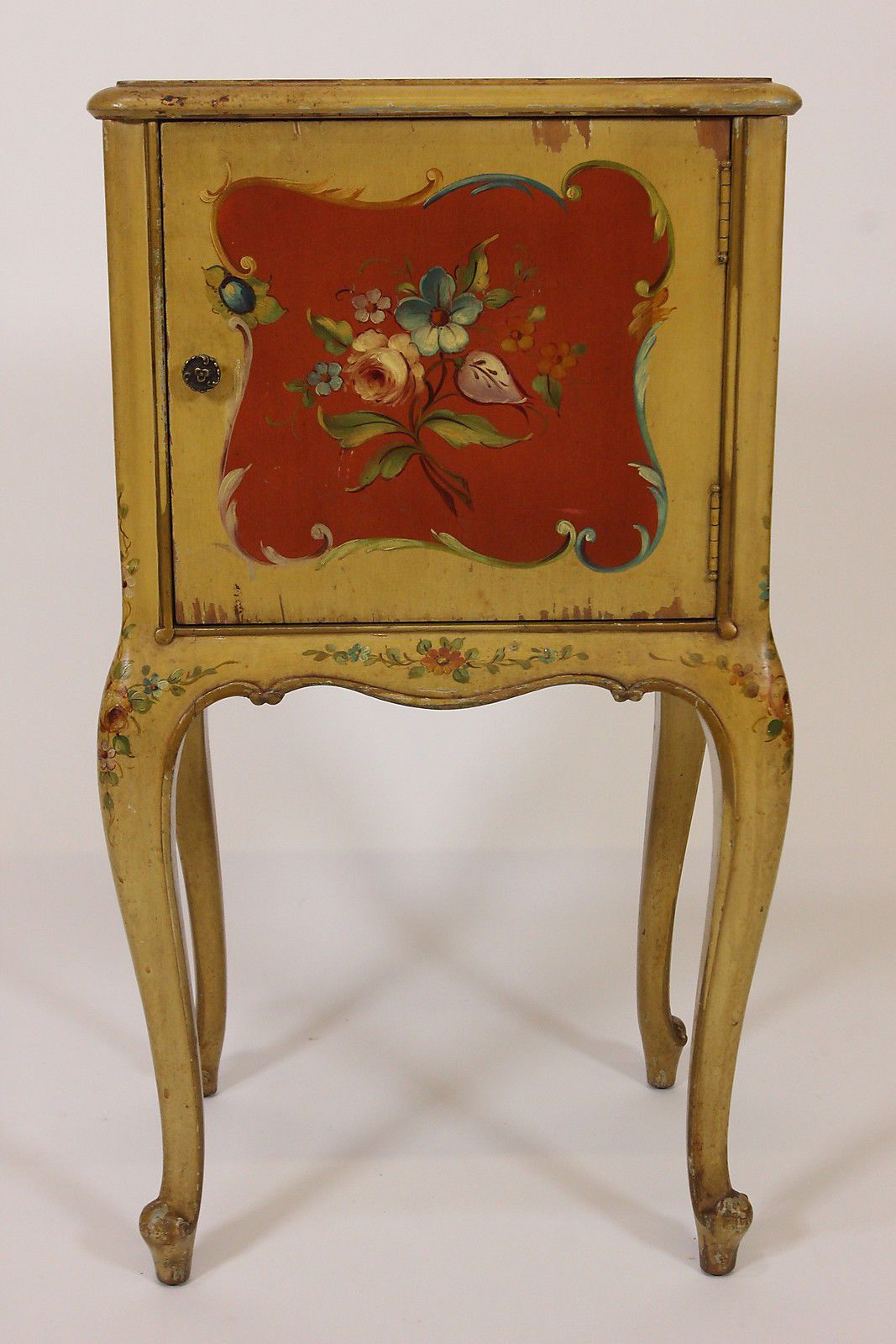 Antique robert irwin hand painted telephone night stand phoenix
