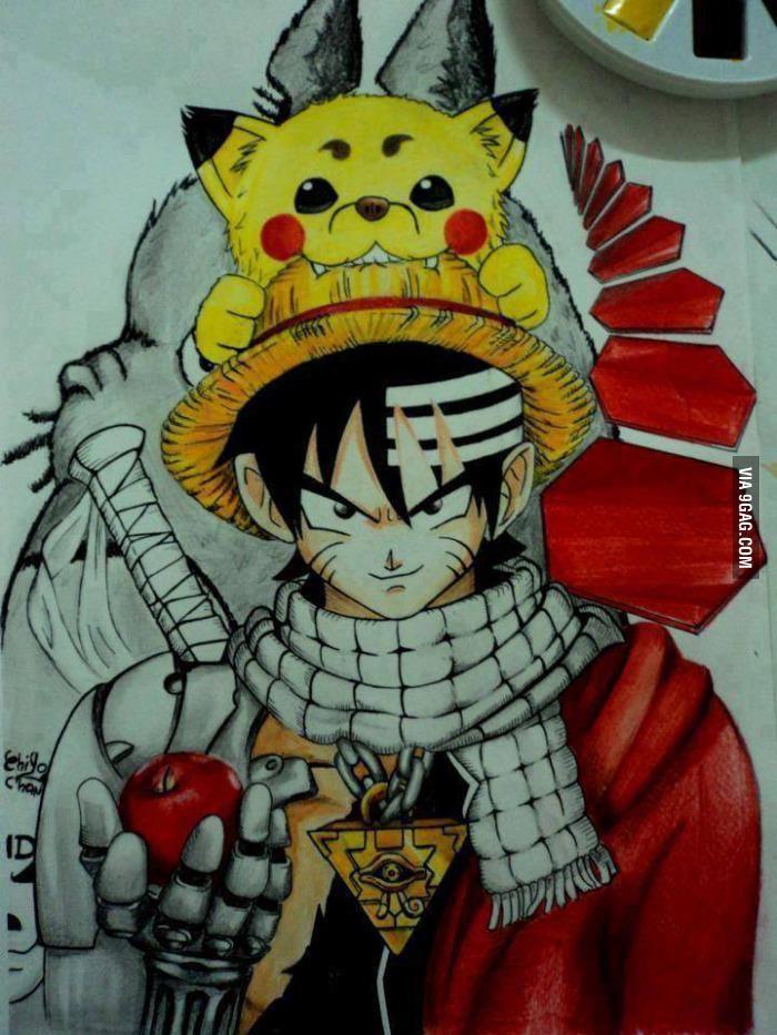 8huqnfs Jpg 700 933 Anime Crossover Anime Awesome Anime