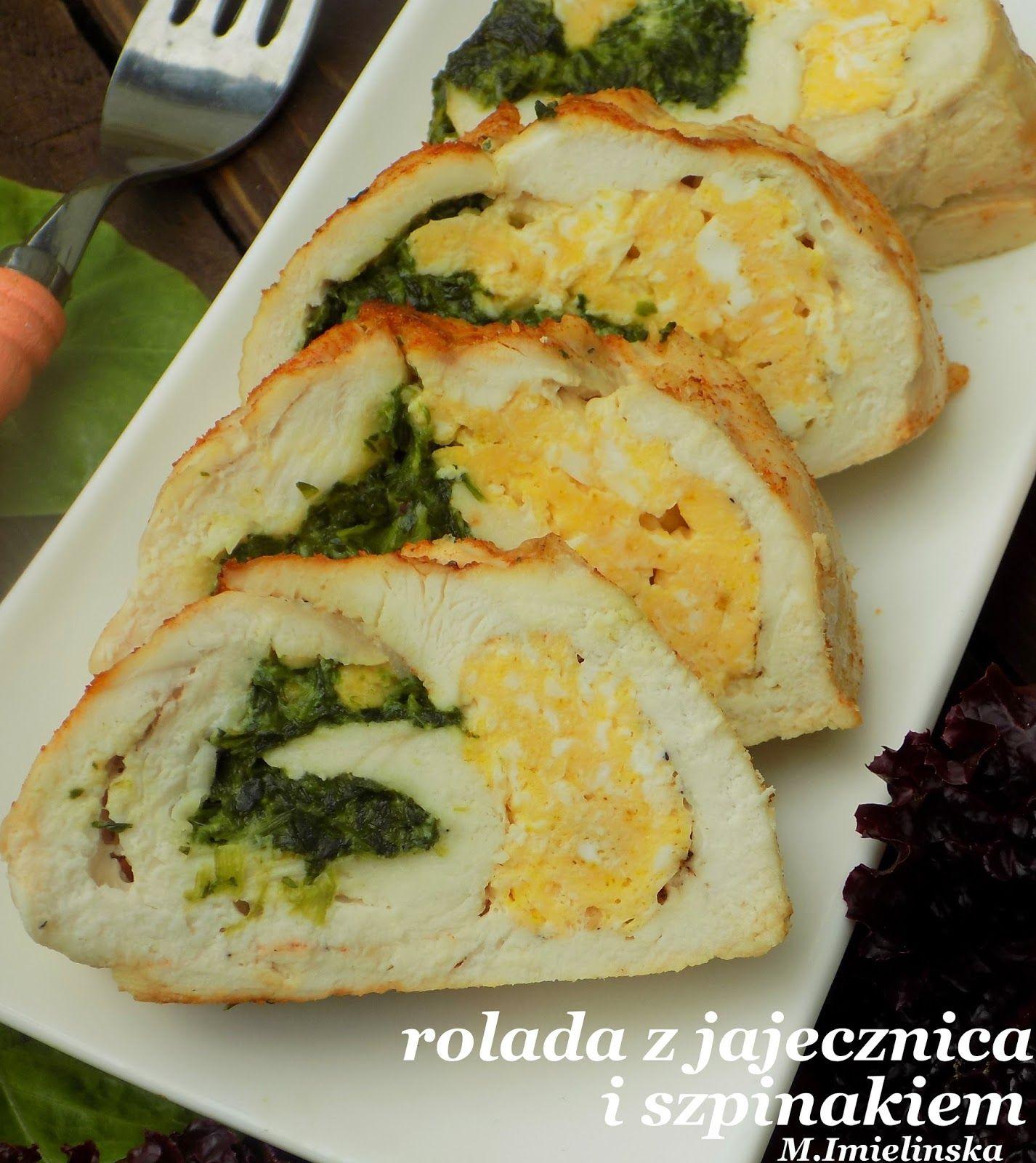 Domowa Cukierenka Domowa Kuchnia Rolada Drobiowa Z Jajecznica I Szpinakiem Healthy Potato Recipes Poultry Recipes Food