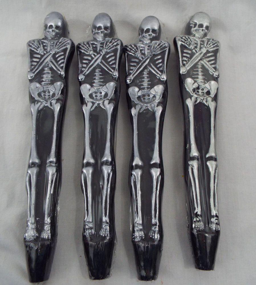 ORN72704 Set//2 Skull Glass Halloween Ornament Dia de Los Muertos Day of the Dead