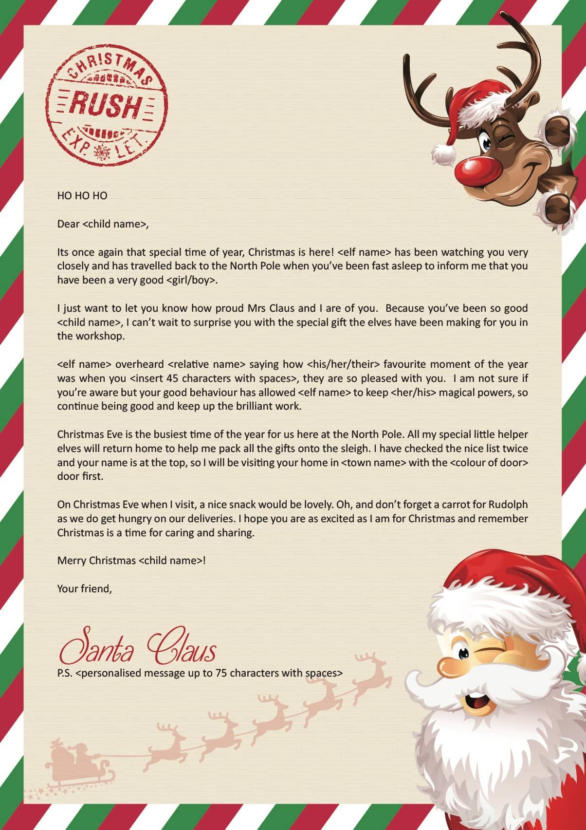 Are You Keeping The Spirit Of Christmas Alive With The Elf Tradition Our Elf Tradition Letters Allows You To Personalise A Lett Letters Santa Letter Kid Names