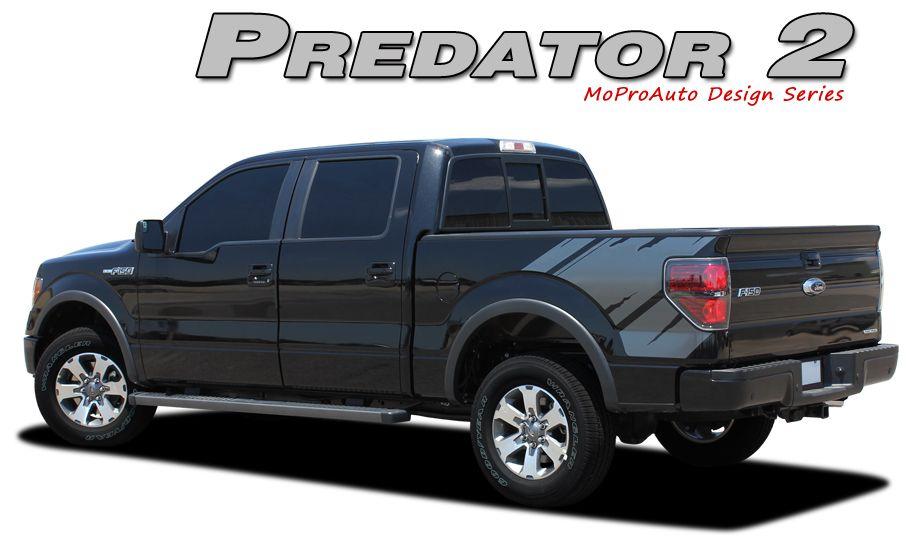 Predator 2 2009 2010 2011 2012 2013 2014 Ford F Series Raptor Style Vinyl Graphics And Decals Kit Vinyl Graphics Ford F Series Stripe Kit