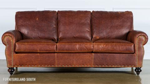 Classic Leather Brown Leather Sofa | p-family room | Leather sofa ...