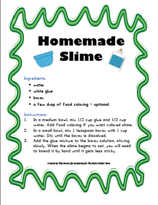 picture about Slime Recipe Printable called No cost Slime Recipes Entertaining game titles and functions - Volunteer