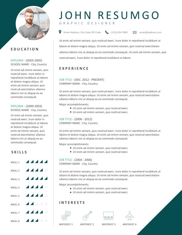 Teris 2 Corner Style Resume Template By Resumgo Resume Template Modern Resume Template Professional Resume Writing Service