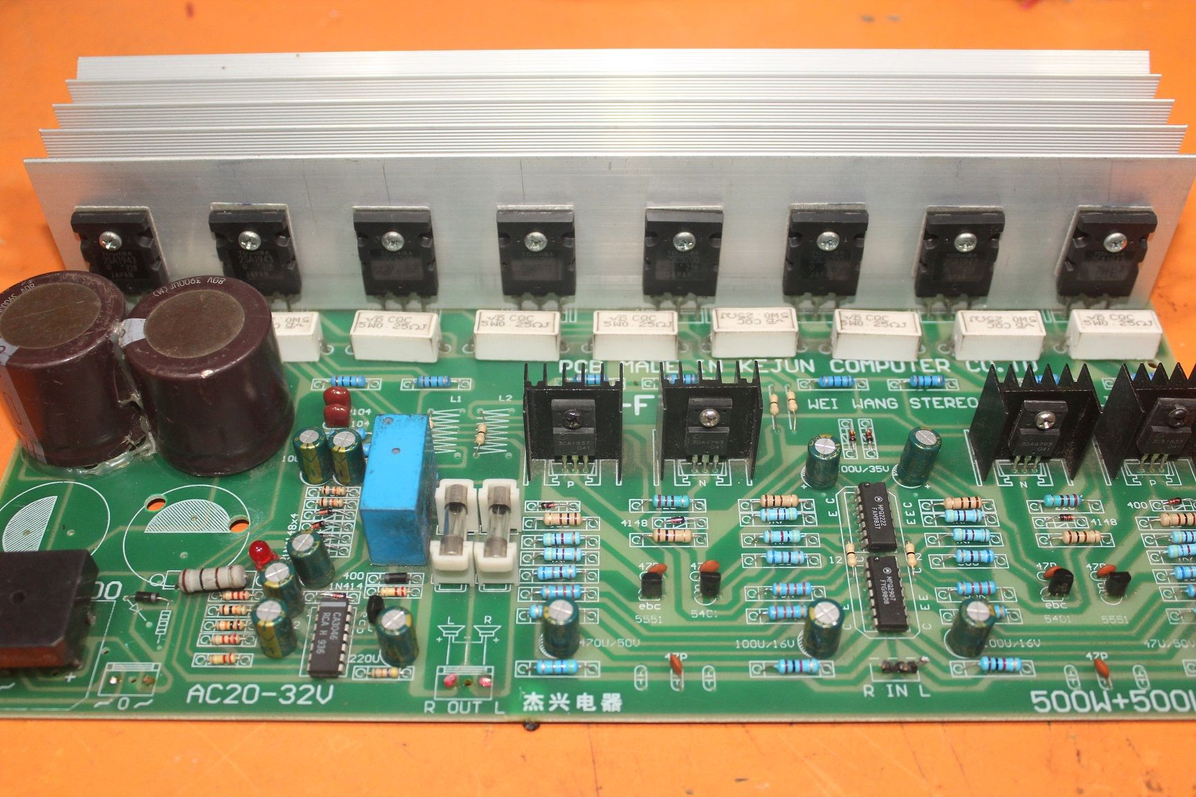 1000 watts amplifier circuit diagram using 2sc5200 and ...