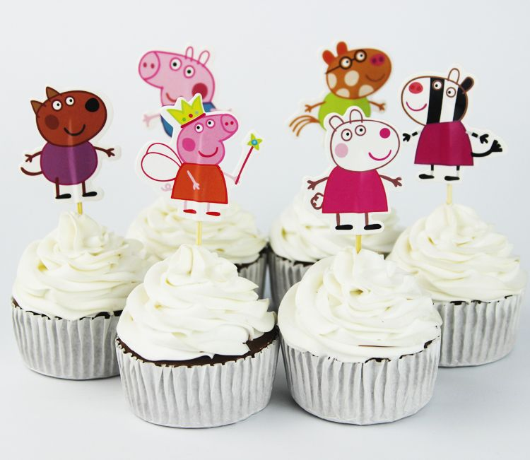 24 Pack Farm Animals Cake Cupcake Decorative for Kids Birthday Party Themed Party Baby Shower Mydio Set of 24 Cute Decorative Cupcake Muffin Toppers Wild Animals Zoo