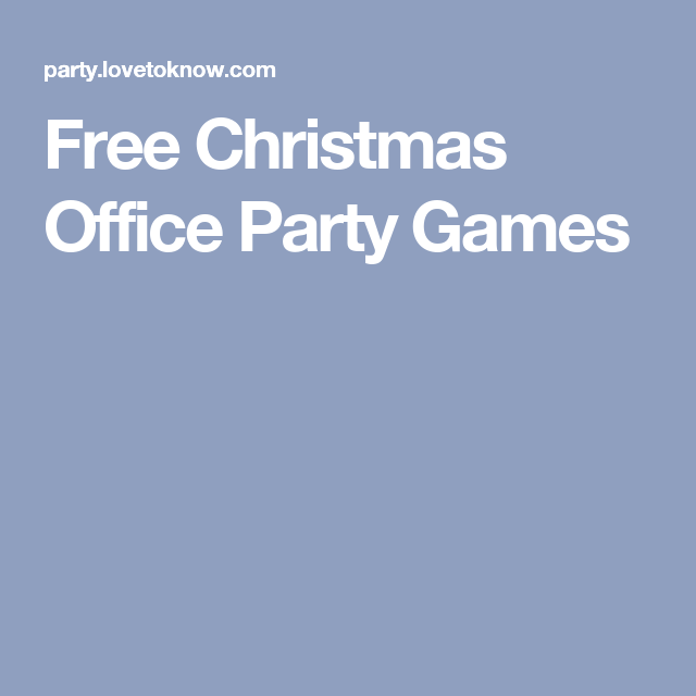 Christmas Office Party Game Ideas Part - 38: Includes: Ideas For Christmas Office Party Games, Office Party Game  Planning Tips, And Make It A Tradition.