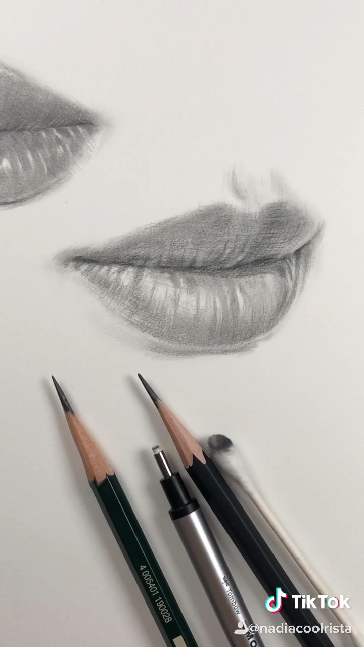 How I draw lips. Freehand drawing practice by Nadia Coolrista