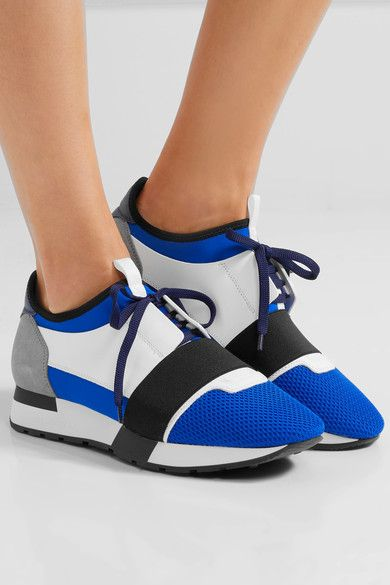balenciaga race runners blue