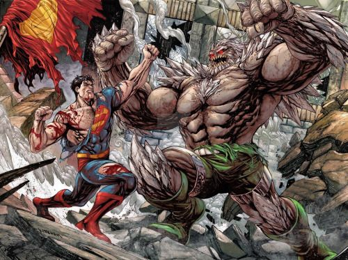 Superman Vs Doomsday Tyler Kirkham Death Of Superman Superman