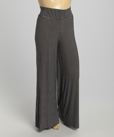 b0a525a66b8 Look what I found on  zulily! Black   White Polka Dot Palazzo Pants - · Plus  Size ...