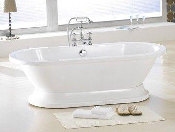 Augusta Free Standing Pedestal Bathtub Price Includes Faucet Drain - Bathroom tub price