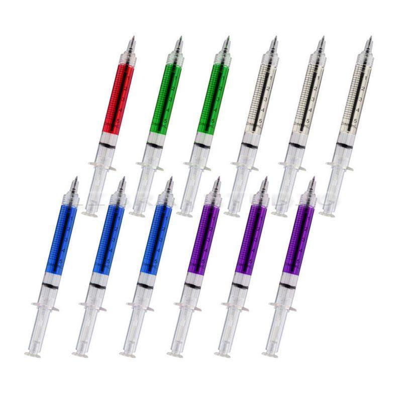 60 PACK Syringe Pens Ink Marker Needle Ball Point Nurse Hospital Doctor Office