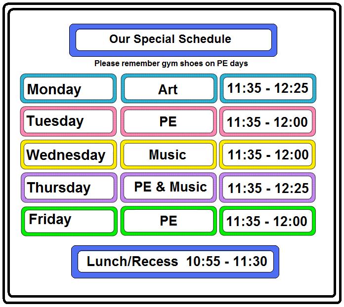 Free Printable Class Schedule Template  Enviament De Continguts A