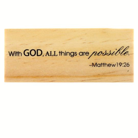 Biblical Scripture Rubber Stamp by Recollections
