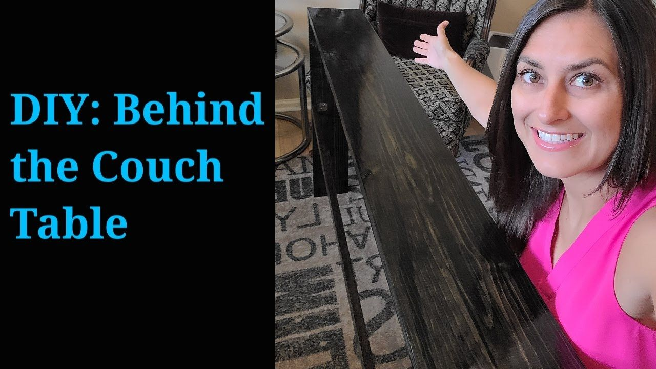 DIY: Behind the Couch Table #LoveWhereYouLive