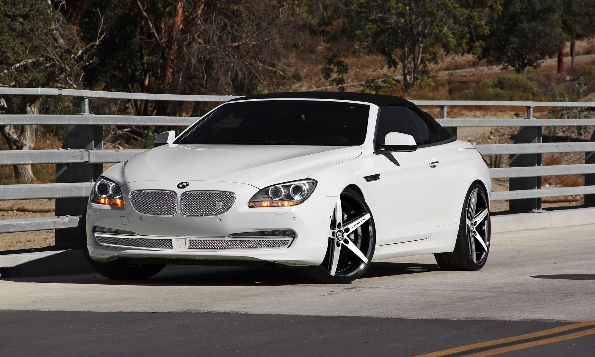 bmw 2013 white. 2013 white covertible bmw 6 series with chrome and black accent lexani rfour wheels staggered 20 inch rims bmw